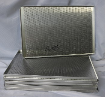 Alu perforated baking trays 3 edge NEW (10 pieces)