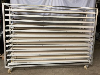 Puller wagon with 12 pullers for 220cm deep oven Partly NEW