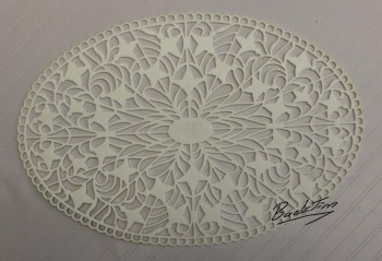 Murrhardter lace doily oval Vintage 5 pieces NEW!